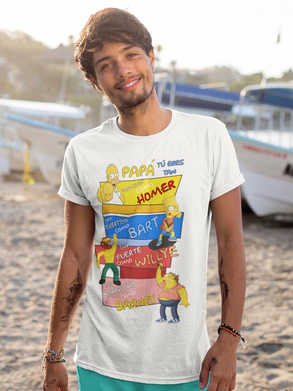 camiseta dia del padre los simpson