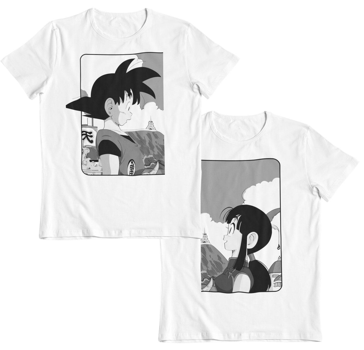 Goku y Chichi la promesa Dragon Ball pack 2 camisetas