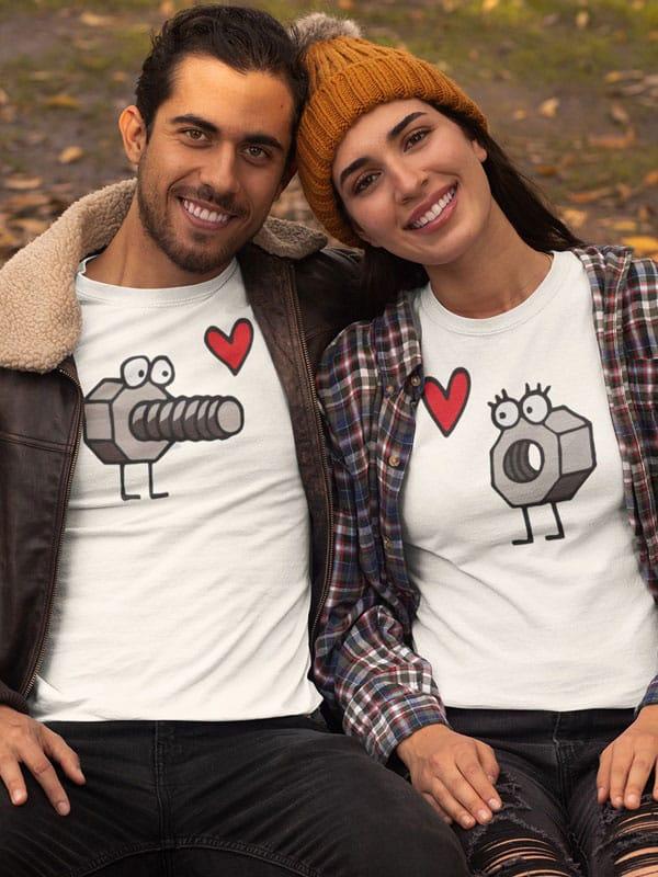 un tornillo para una arandela pack dos camisetas san valentin