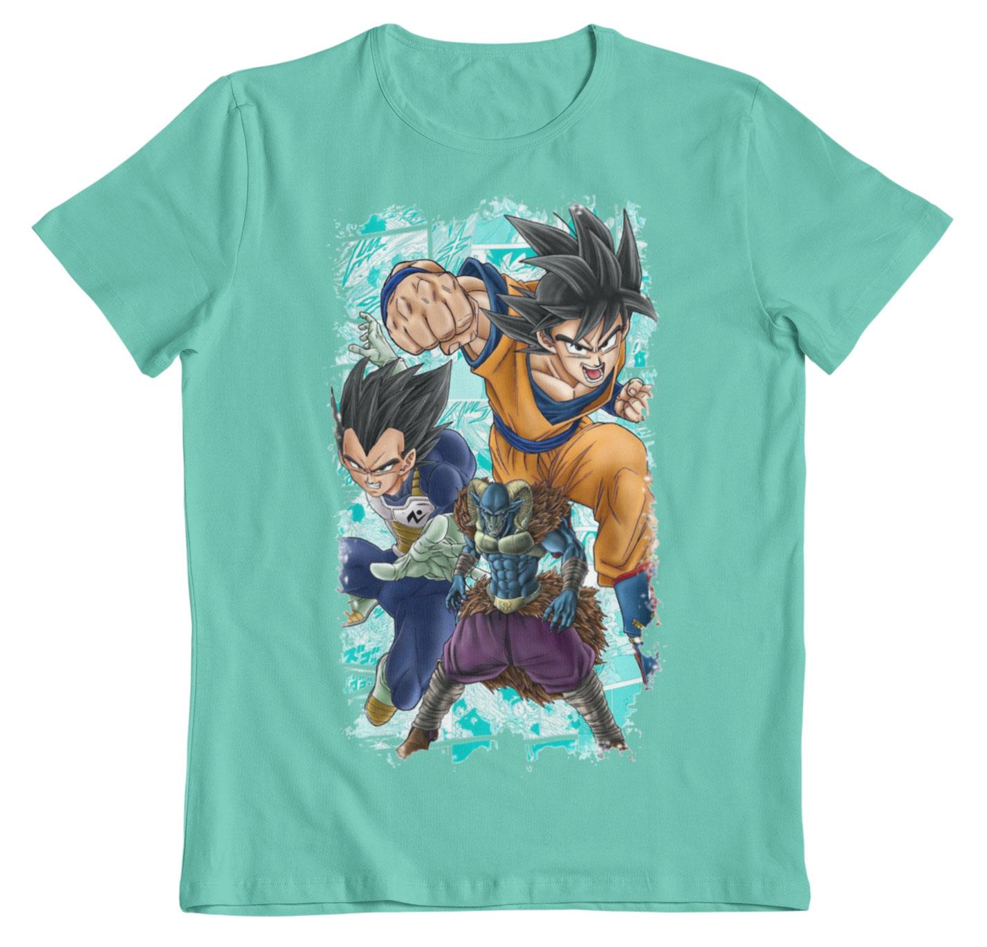 Camiseta Dragon Ball Super saga Moro azul atolon