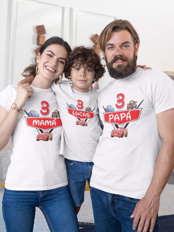 pack 3 camisetas cars