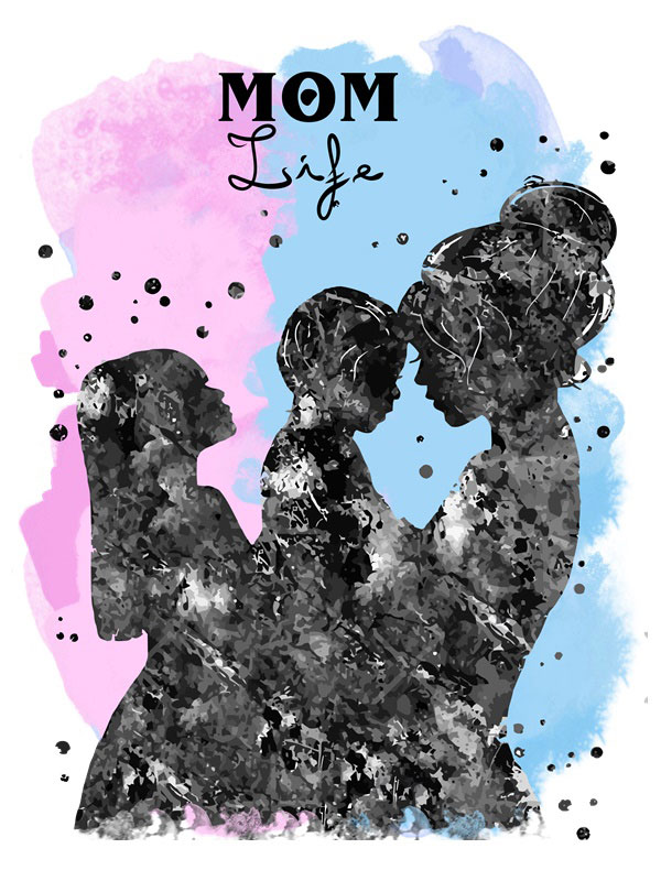Camiseta día de la madre life mom hija e hijo