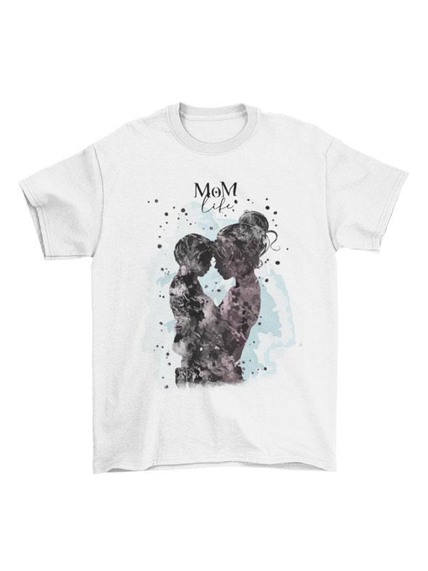 Camiseta dia de la madre life mom hijo