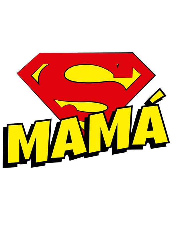 camiseta super mama dia de la madre logo