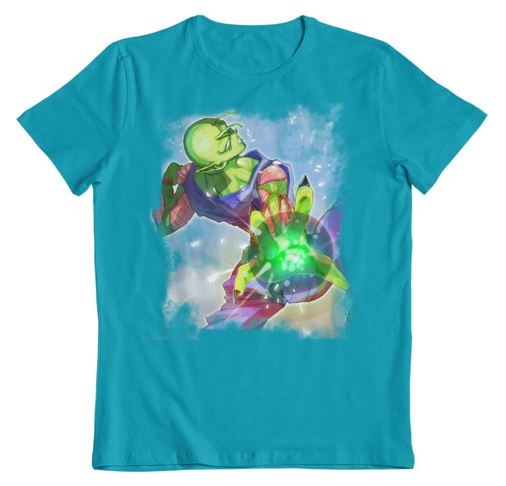 Camiseta Dragon Ball Piccolo attack aqua