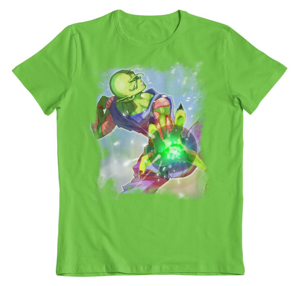 Camiseta Dragon Ball Piccolo attack verde