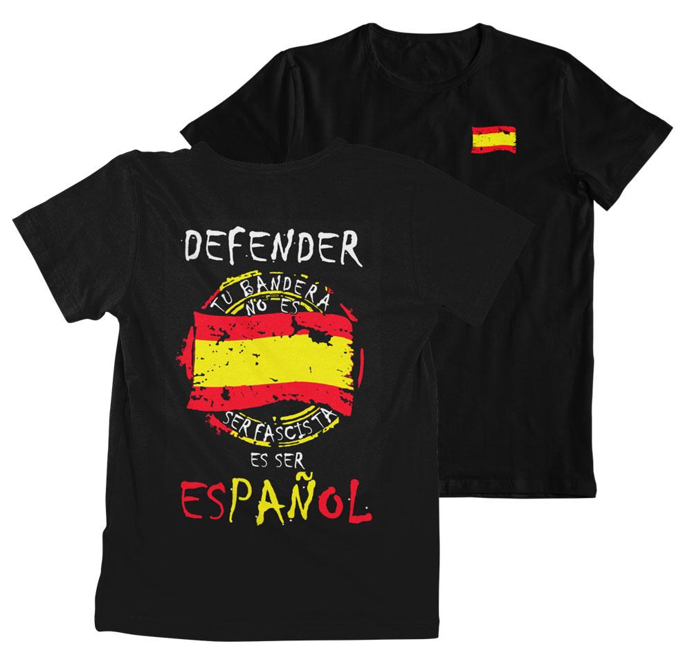 Camiseta defiende tu bandera