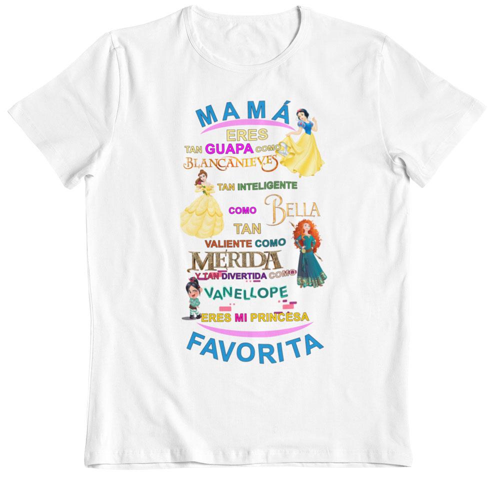 Camiseta del día de la madre princesas blanca