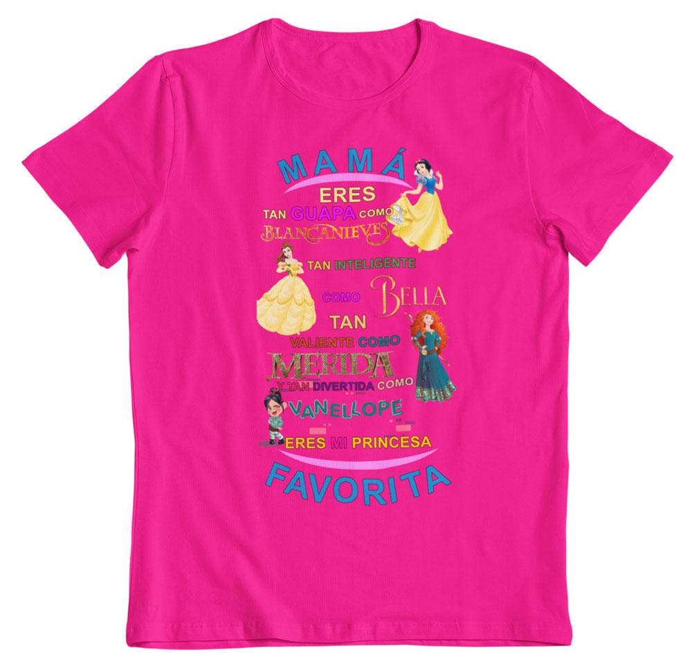 Camiseta del día de la madre princesas fucsia