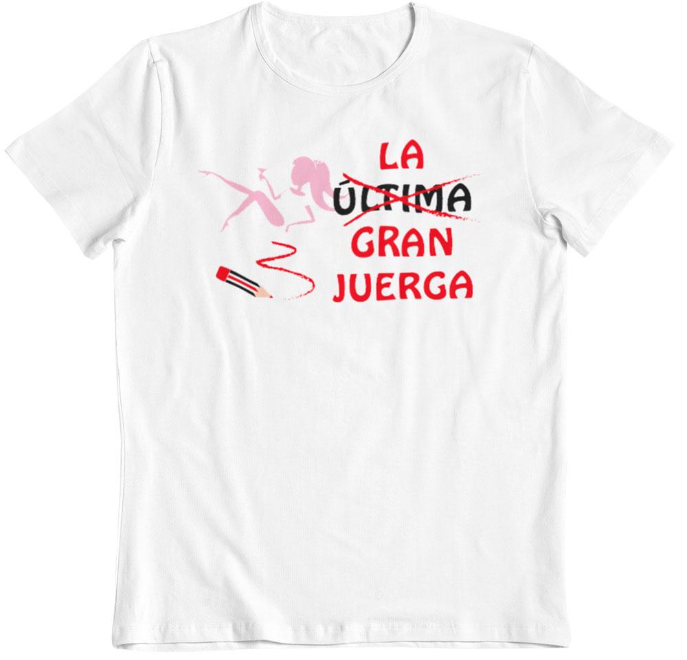 Camiseta despedida de soltera la ultima gran juerga