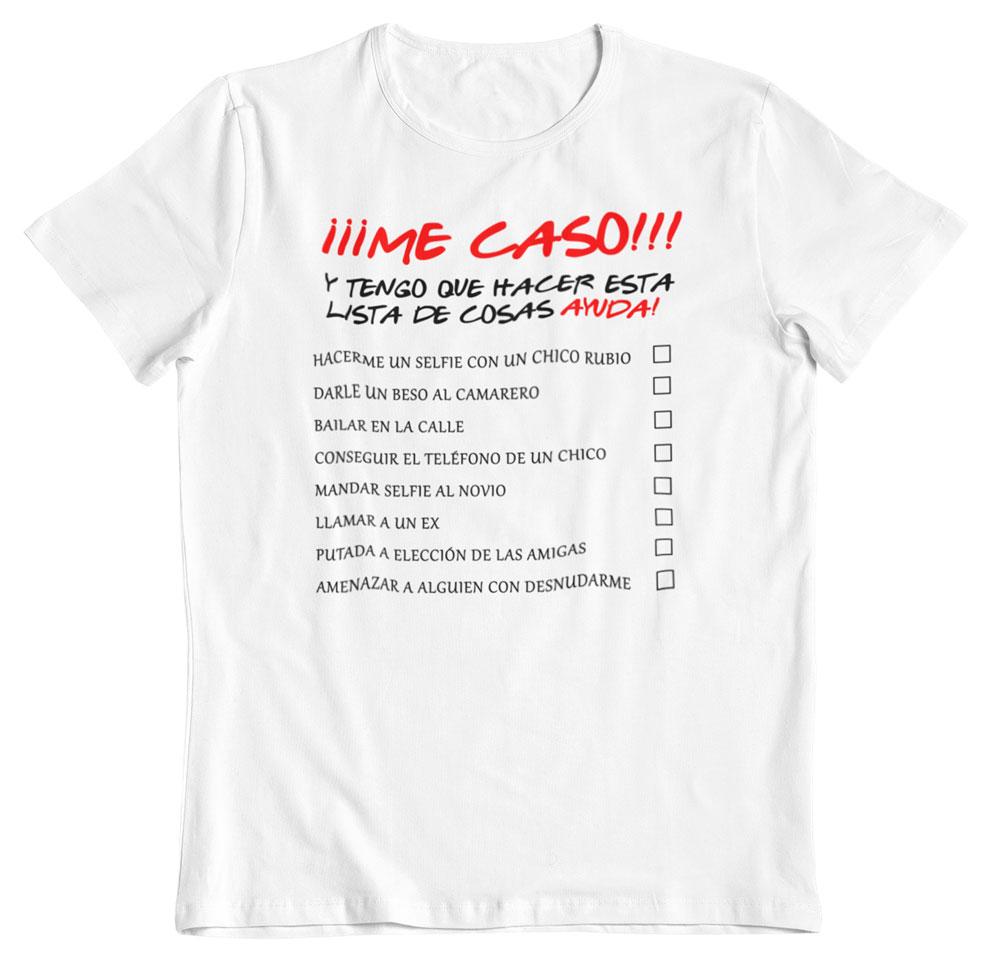 Camiseta despedida de soltera lista para poder casarme 13,50€