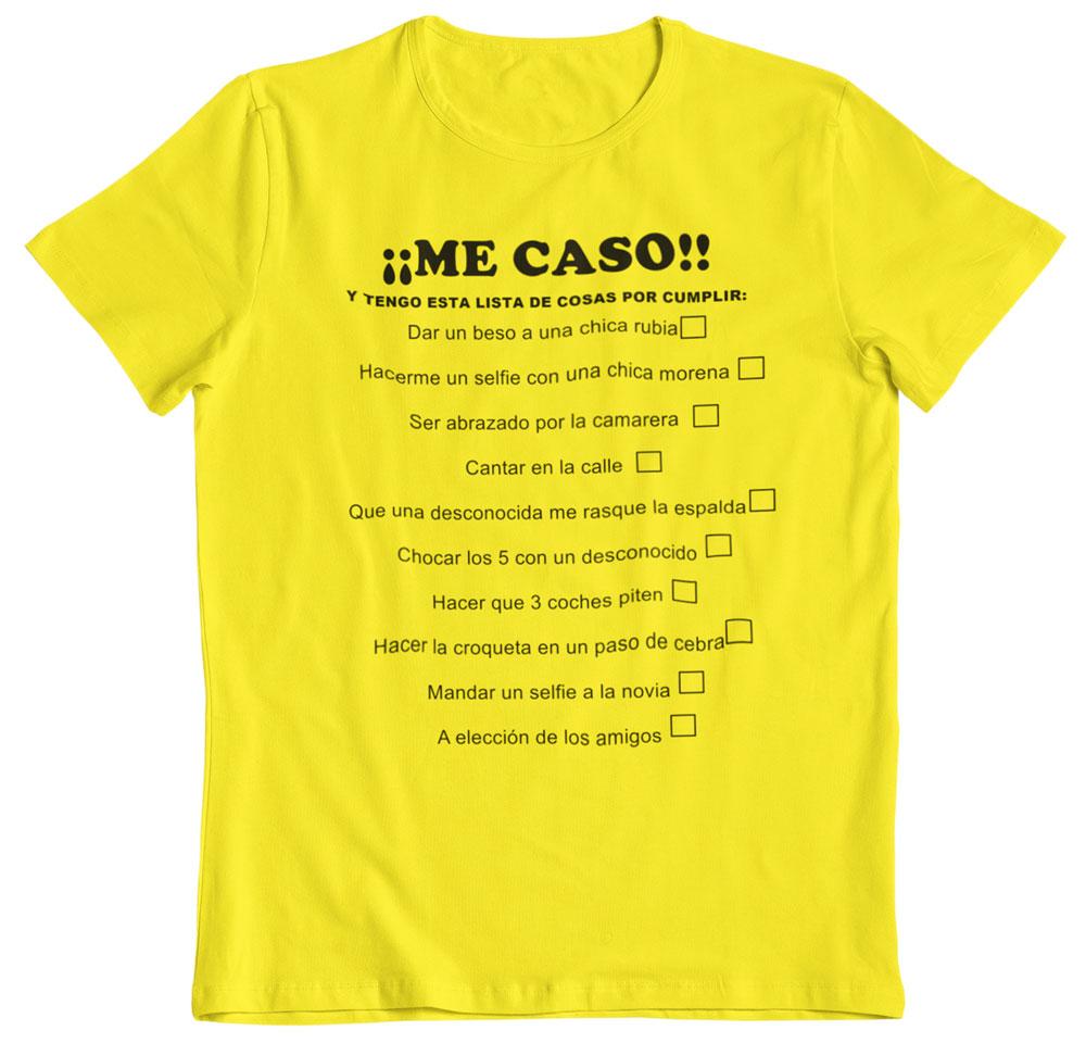 Camiseta despedida de soltero pruebas amarillo