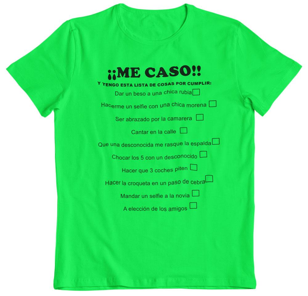 Camiseta despedida de soltero pruebas verde
