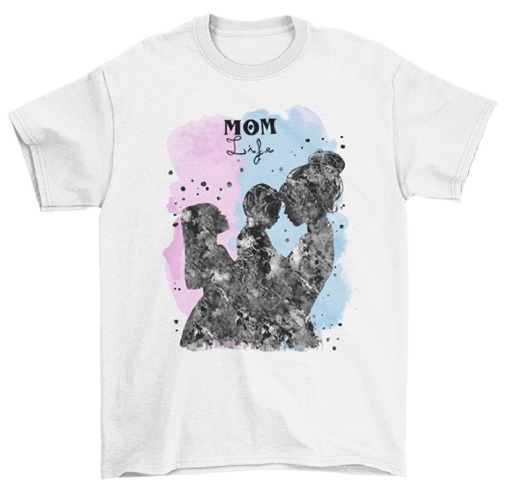 Camiseta dia de la madre life mom hija e hijo