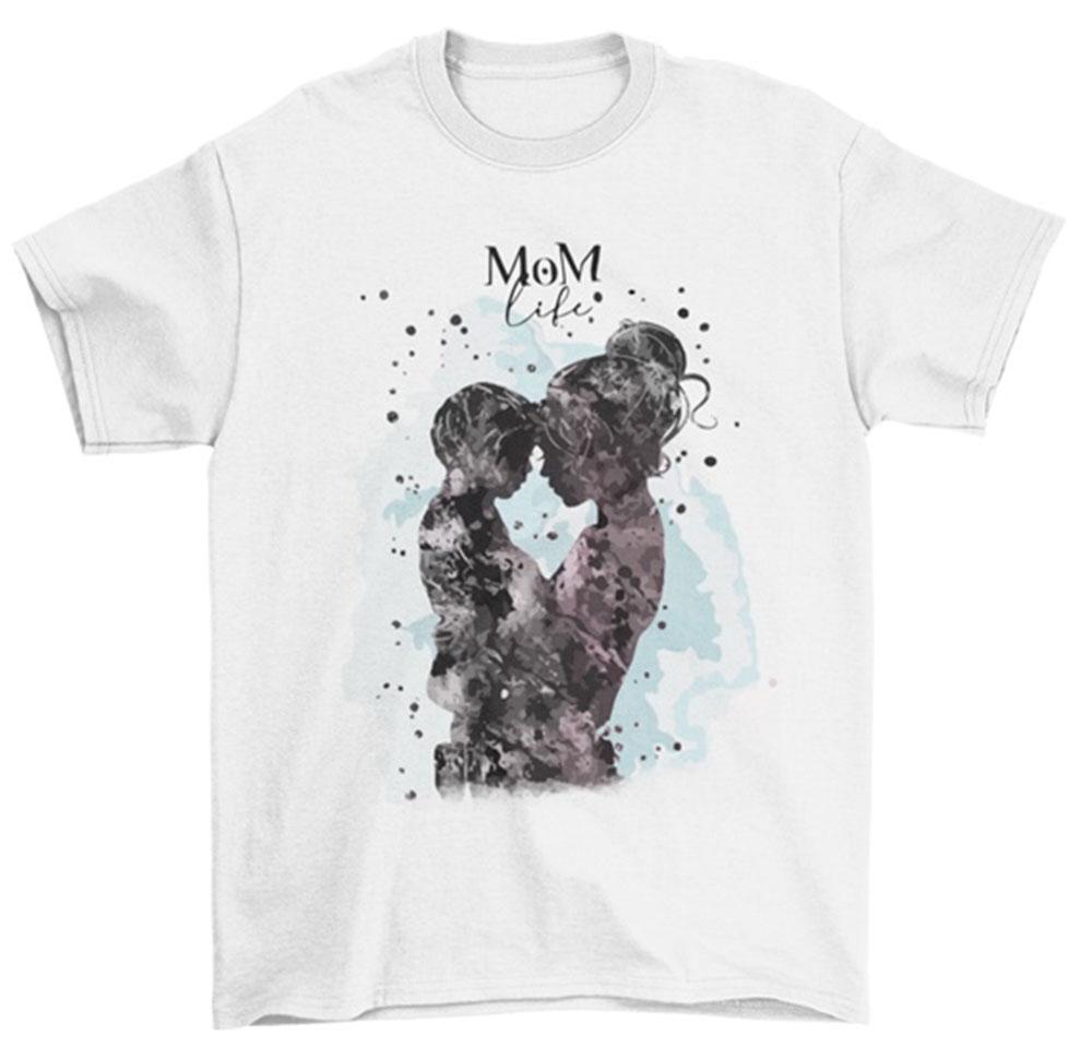Camiseta día de la madre life mom hijo