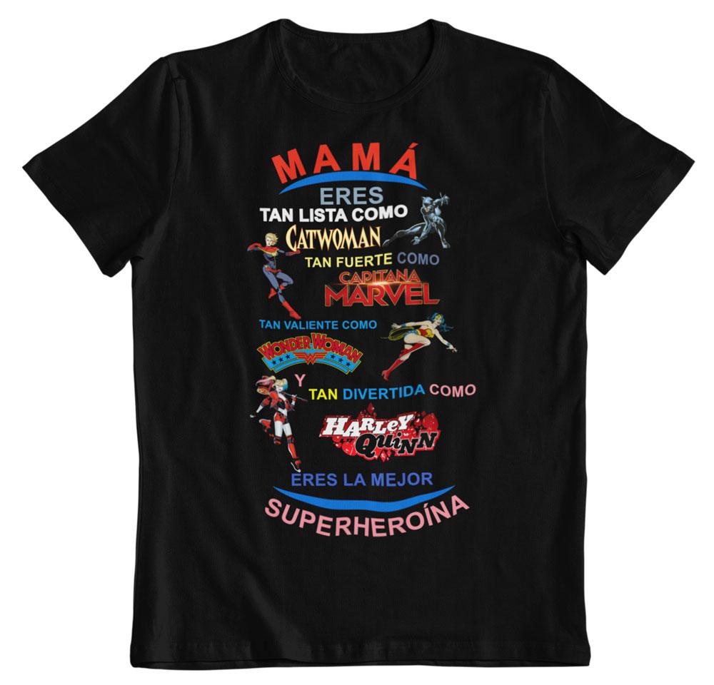 Camiseta día de la madre superheroínas