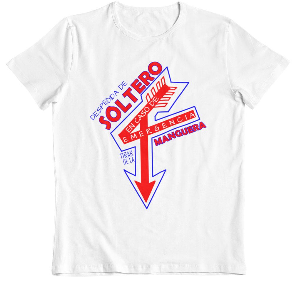 Camiseta en caso de emergencia tirar de la manguera