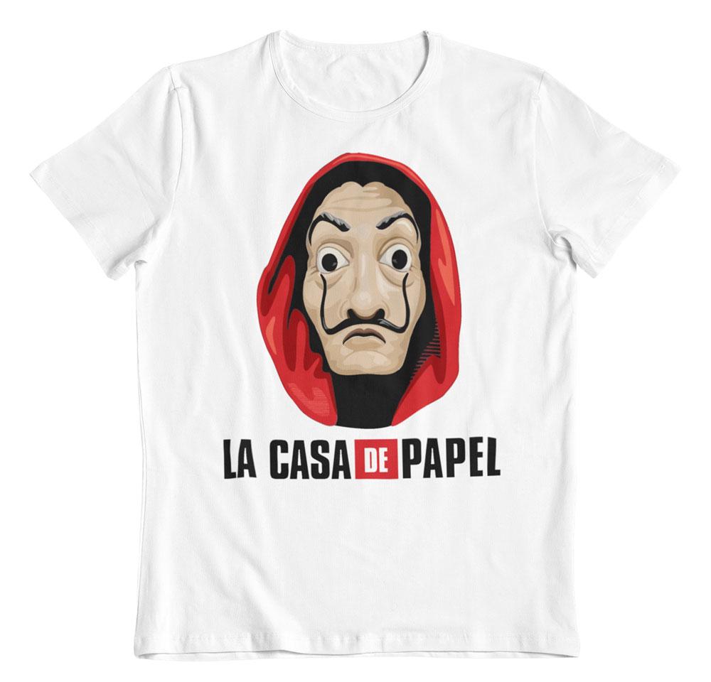 Camiseta la casa de papel la mascara de Dalí