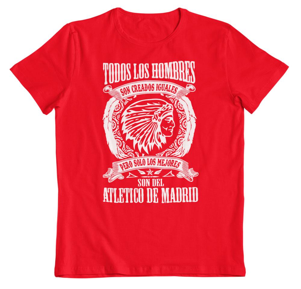 Camiseta los mejores son del Atleti roja