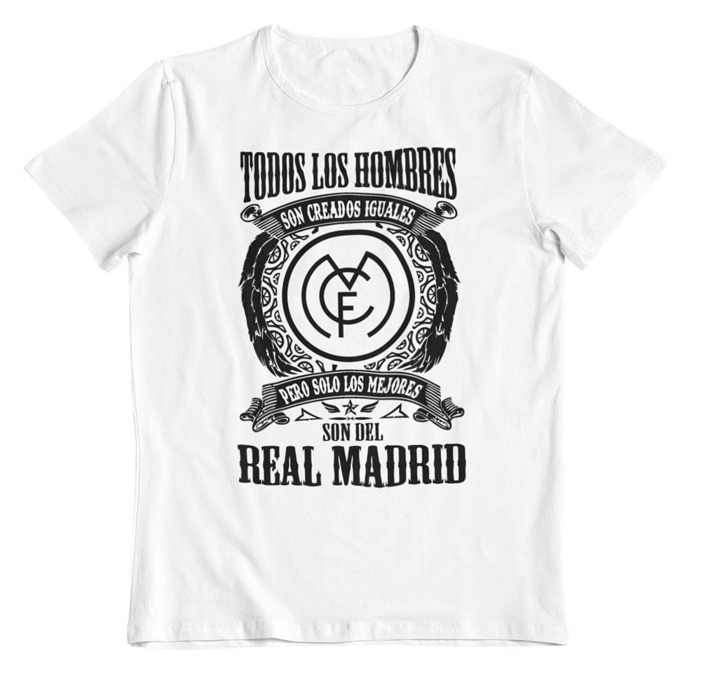 Camiseta los mejores son del Real Madrid blanca