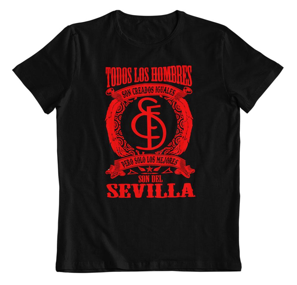 Camiseta los mejores son del Sevilla negro