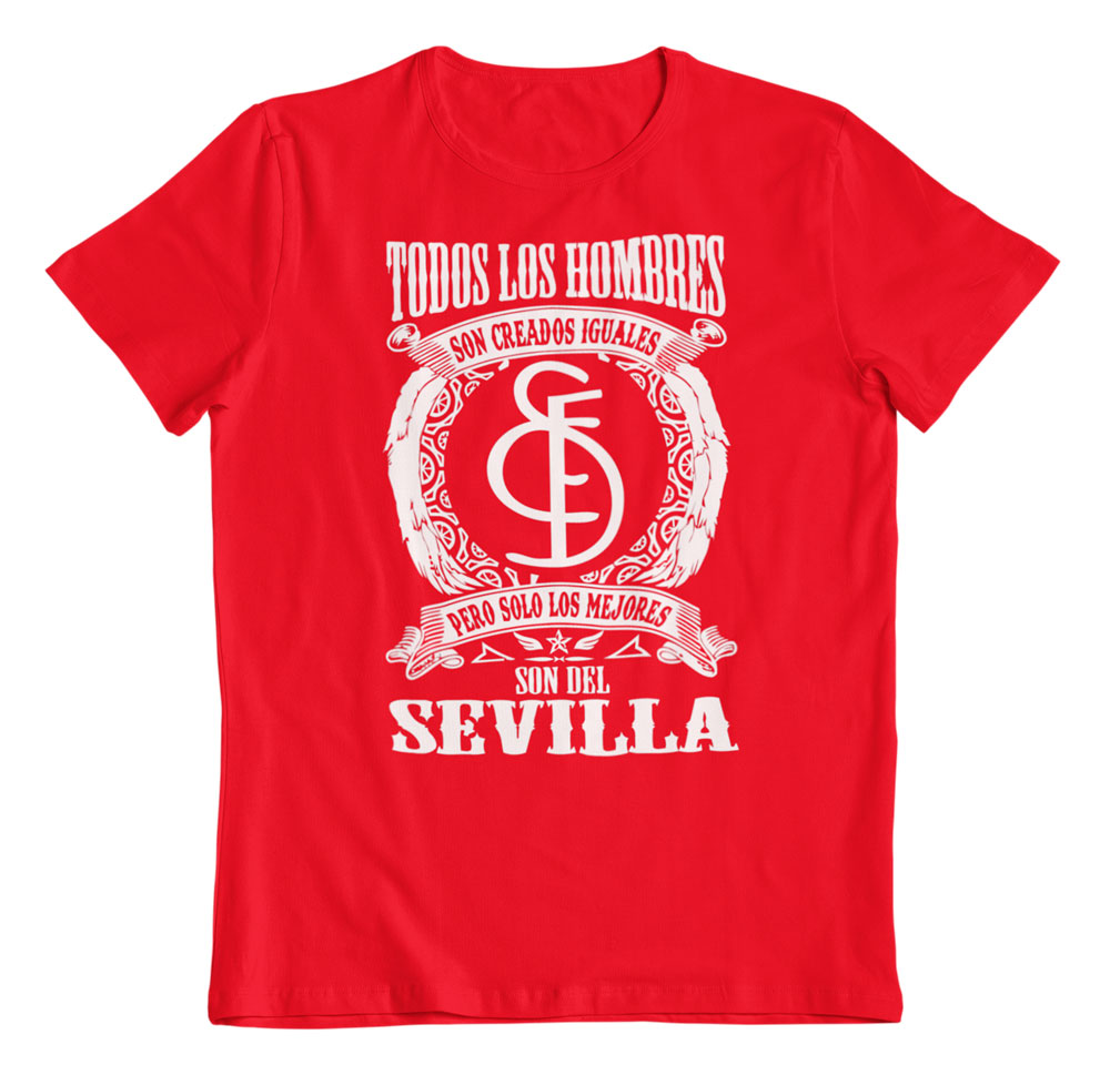 Camiseta los mejores son del Sevilla rojo