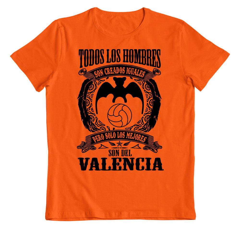 Camiseta los mejores son del Valencia naranja