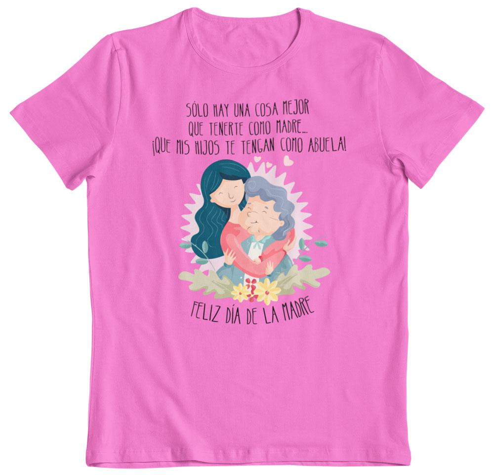 Camiseta madre y abuela día de la madre rosa