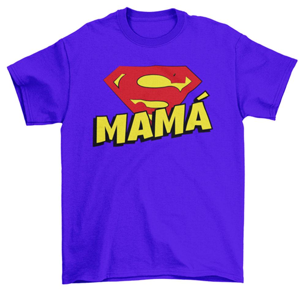 Camiseta Super mamá azul