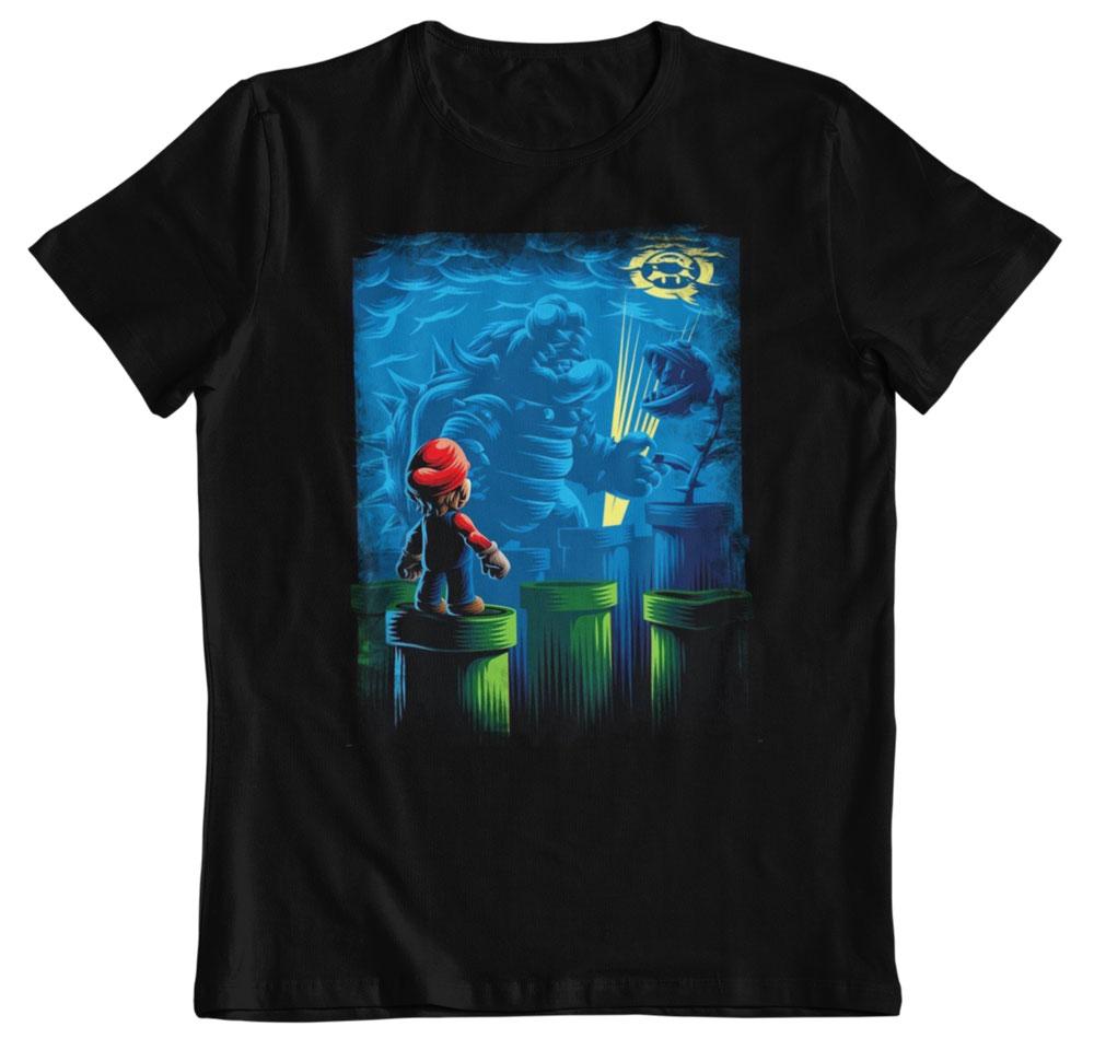 Camiseta Super Mario Bross el combate