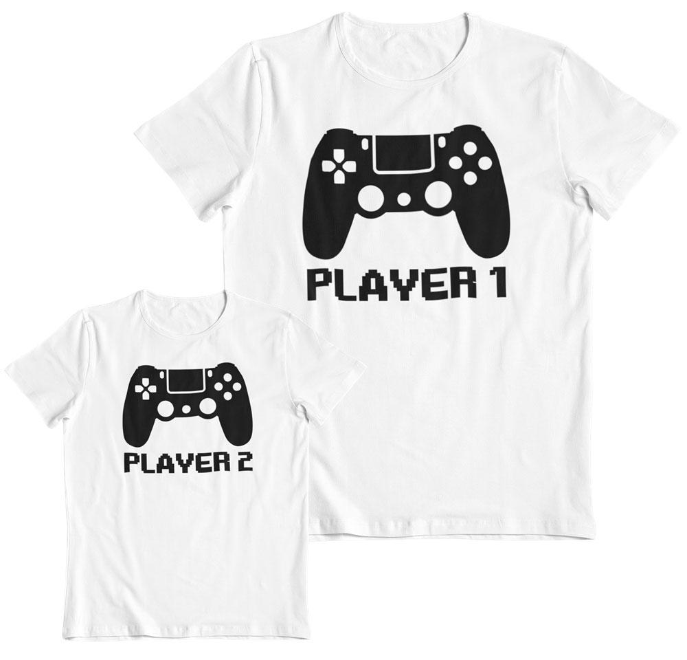 Kit 2 camisetas padre e hijo gamers