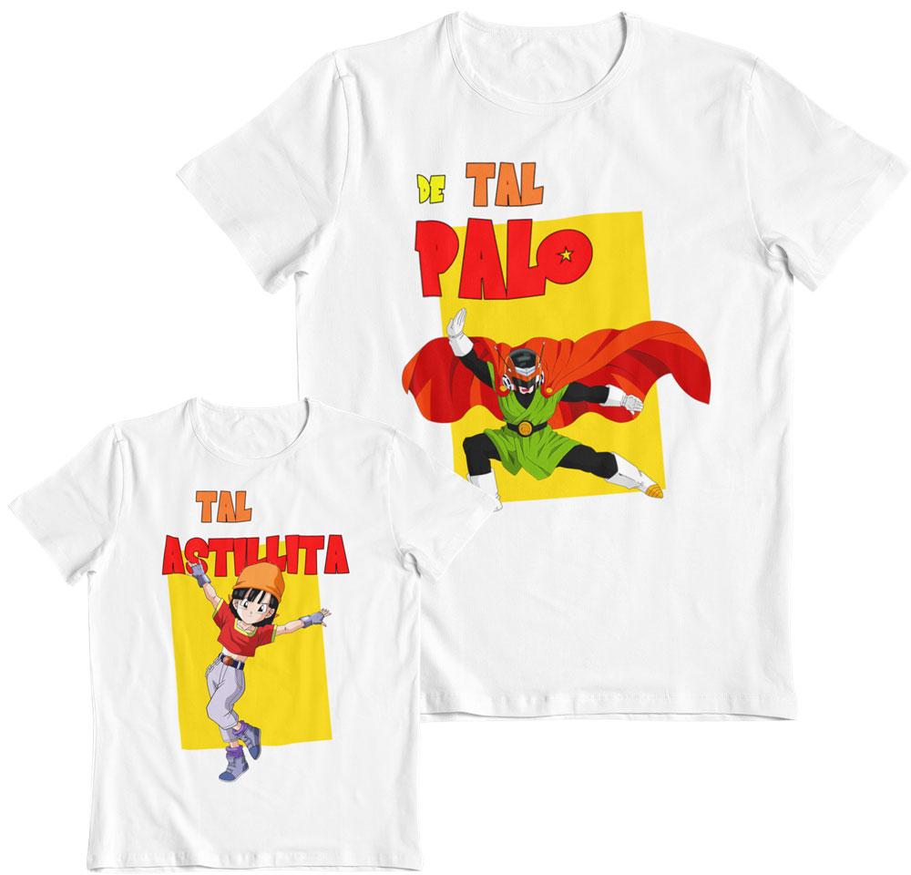 Kit 2 camisetas Son Gohan y Pan de tal palo tal astilla