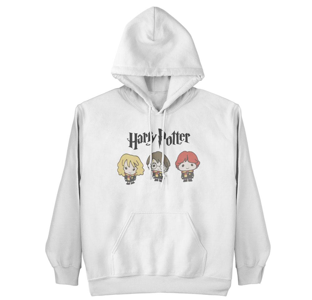 Sudadera protas Harry Potter blanco con capucha