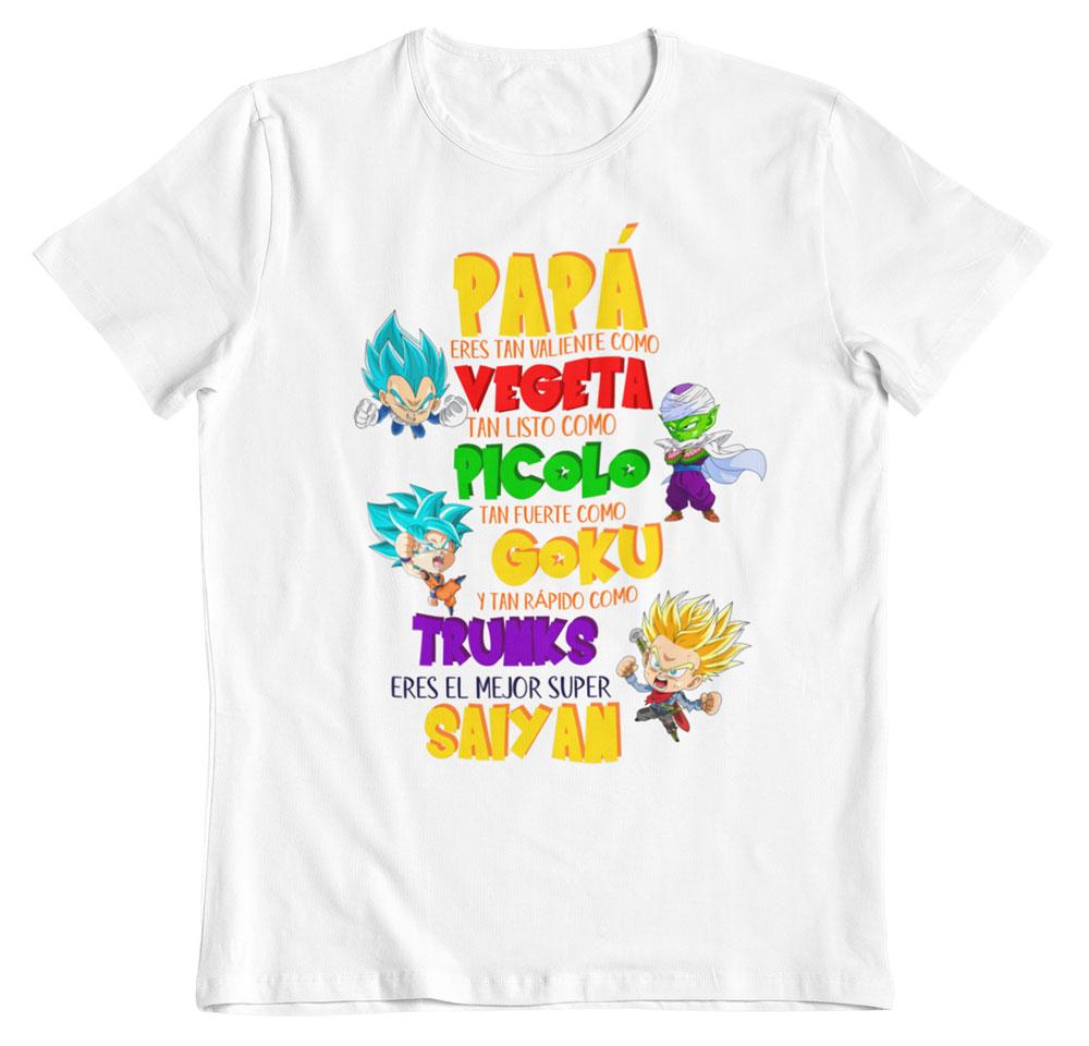 Camiseta día del padre dragon ball z blanco