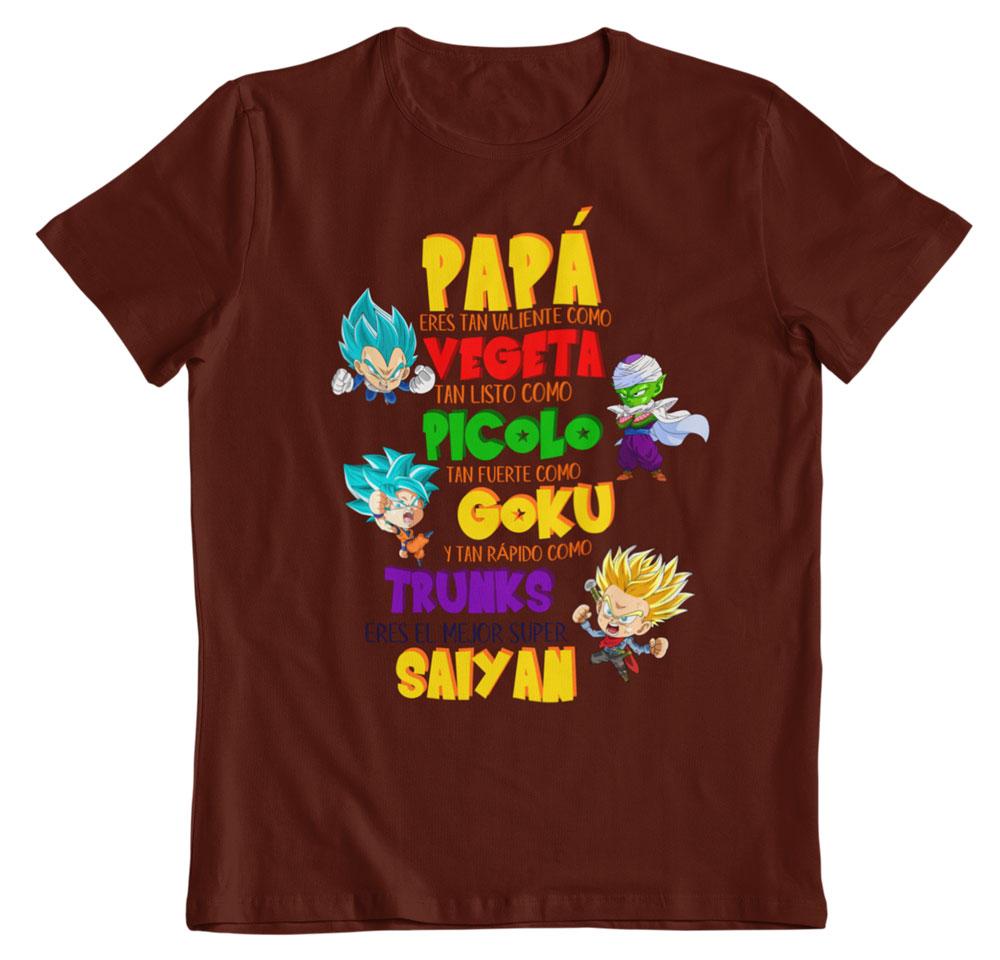 Camiseta día del padre dragon ball z marron