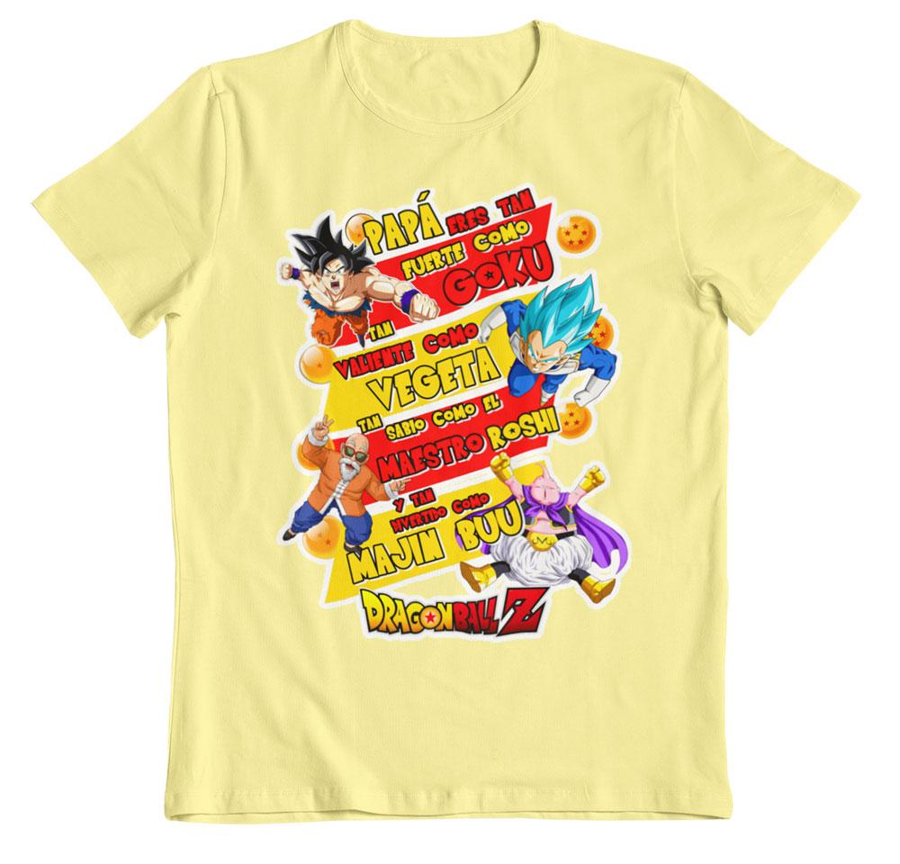 Camiseta día del padre guerreros Z amarillo pastel