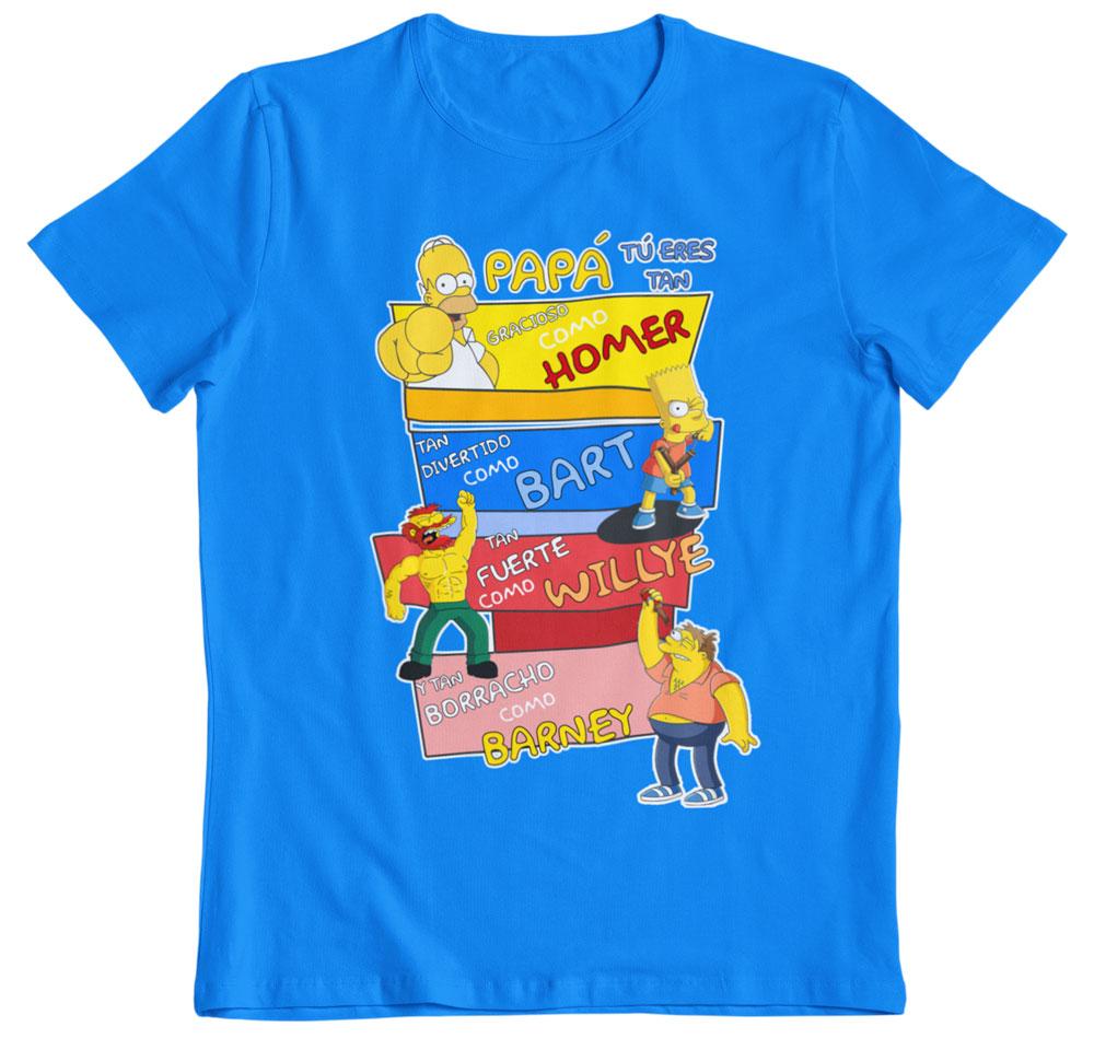 Camiseta día del padre los Simpson turquesa
