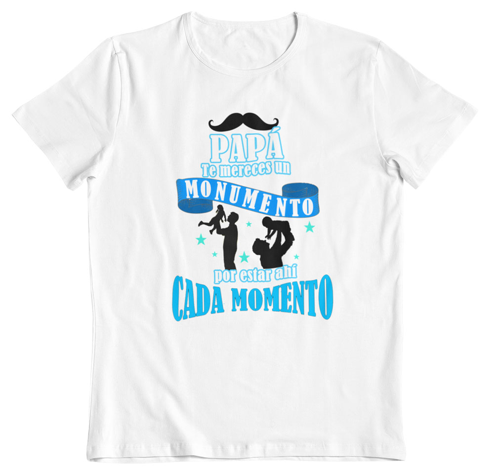 Camiseta día del padre monumento blanco