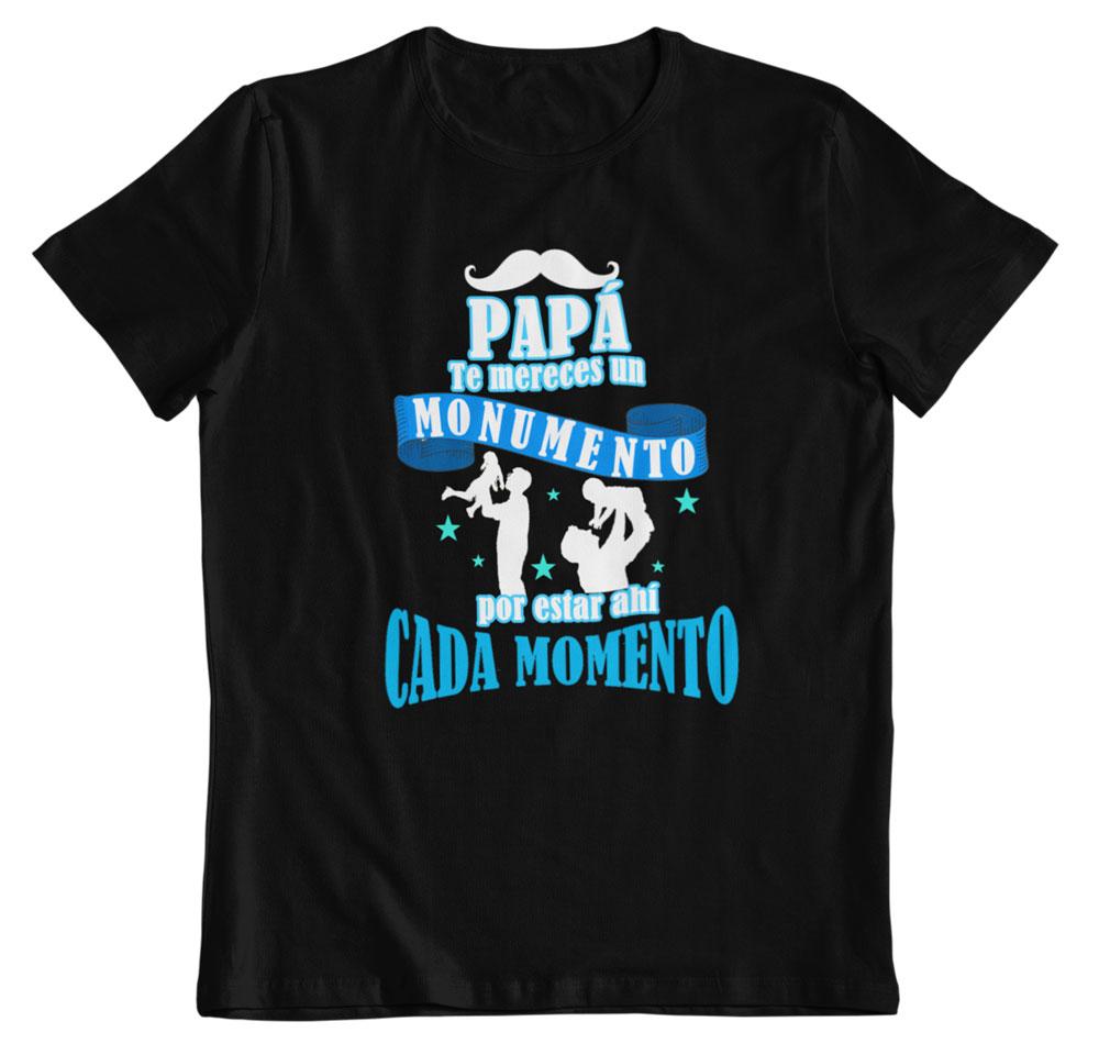 Camiseta día del padre monumento negro