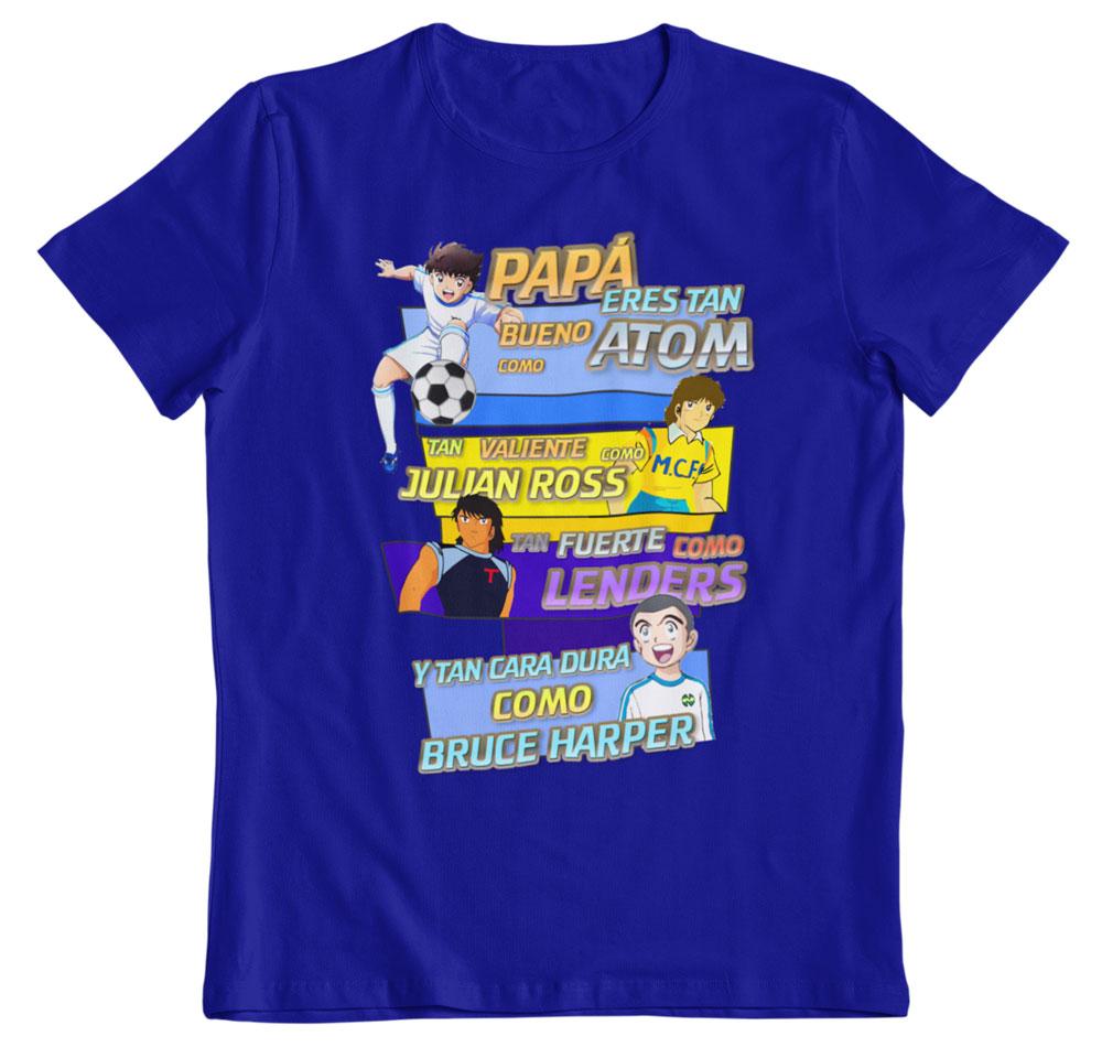 Camiseta día del padre Oliver y Benji azul real