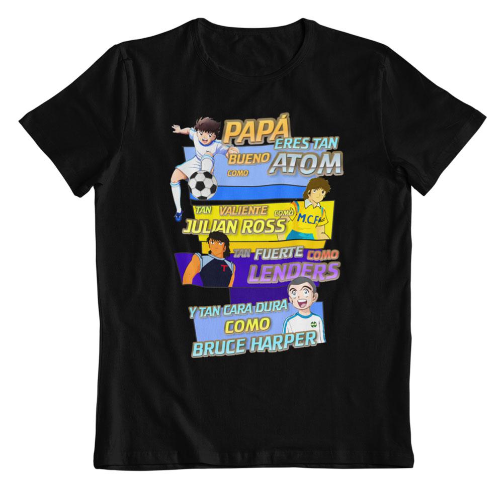 Camiseta día del padre Oliver y Benji negro