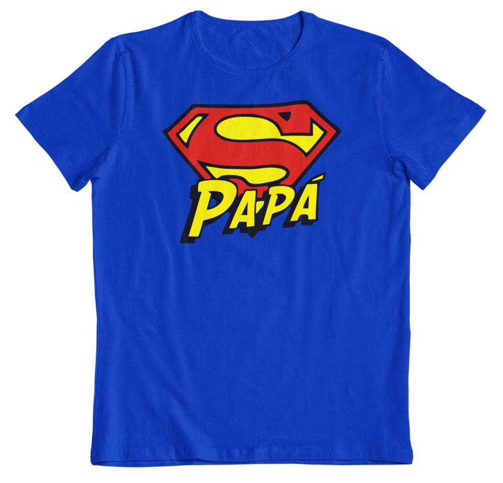 camiseta día del padre superhéroe azul