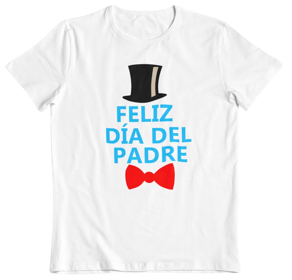 Camiseta feliz día del padre blanco