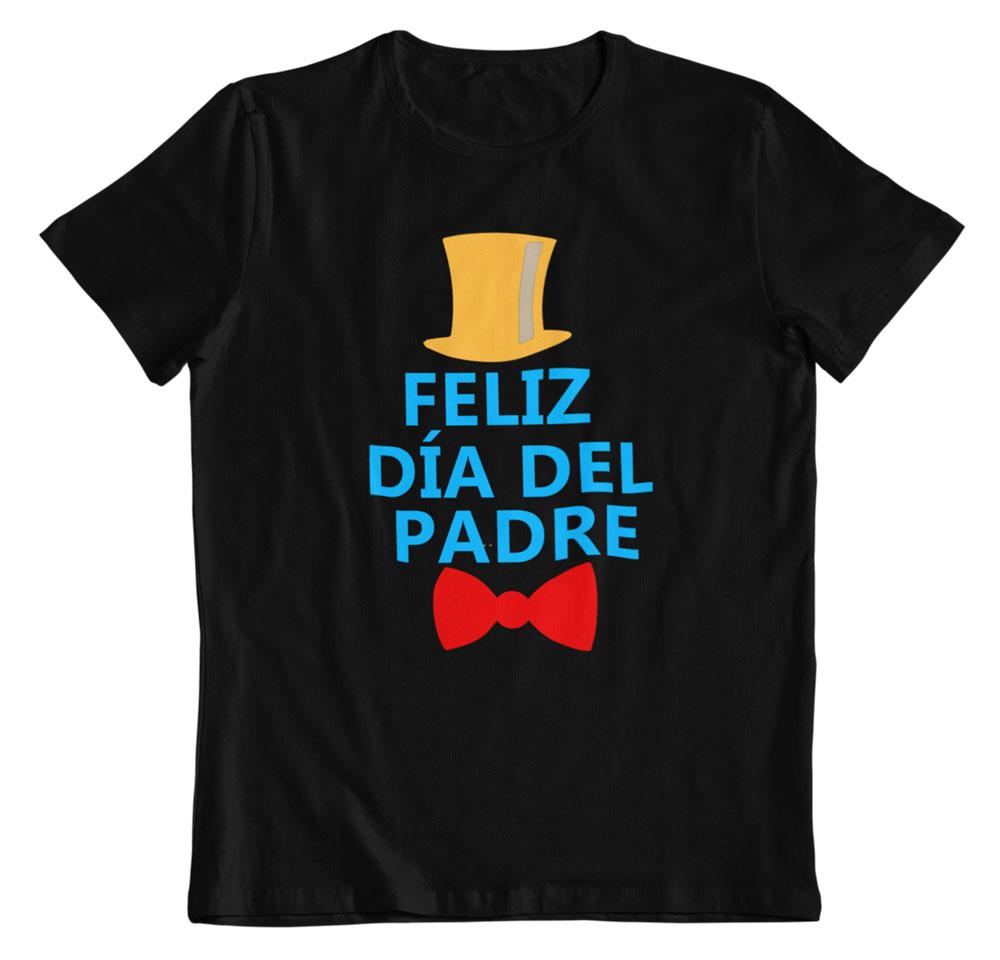 Camiseta feliz día del padre negro