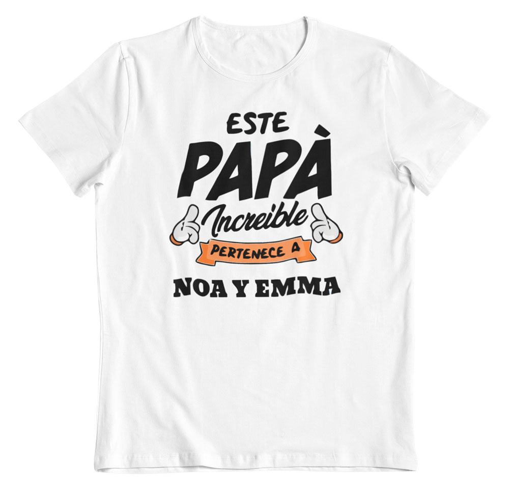 Camiseta personalizada para el día del padre blanca