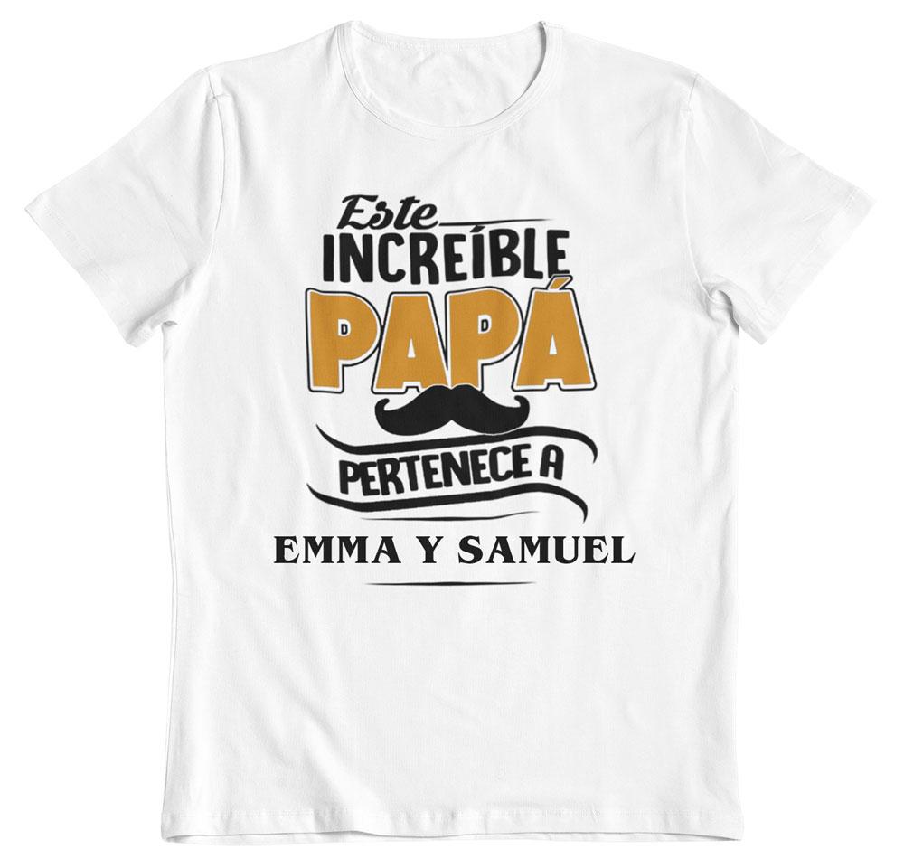 camiseta personalizada para papá blanca