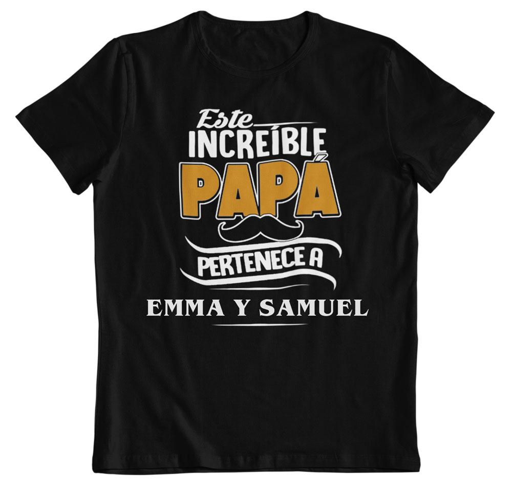 camiseta personalizada para papá negra