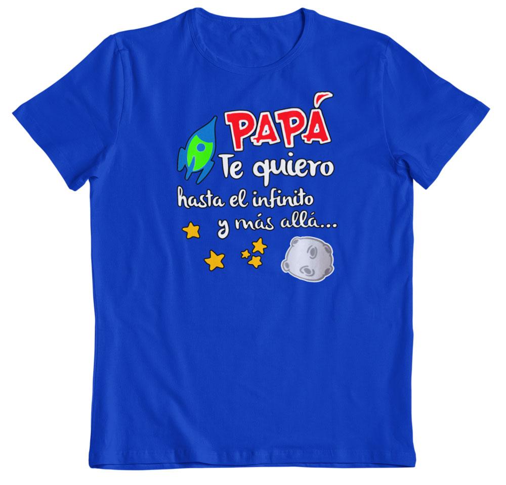 Camisetas regalo día del padre azul real