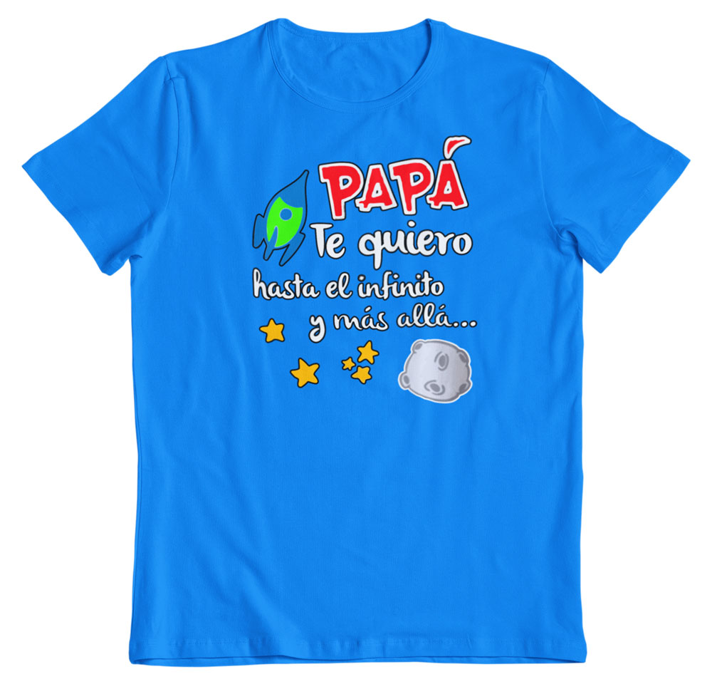 Camisetas regalo día del padre turquesa